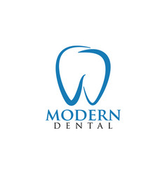 modern dental logo design template vector image
