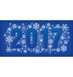 New year banner with snowflakes vector