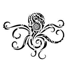 octopus tribal tattoo vector image