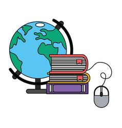 Online education cartoon vector