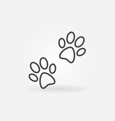 Pair paw prints icon vector