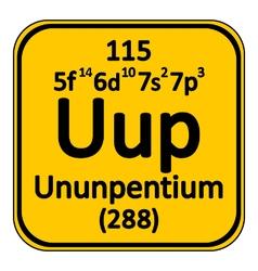 Periodic table element ununpentium icon vector image