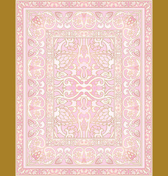 Pink ornamental carpet vector
