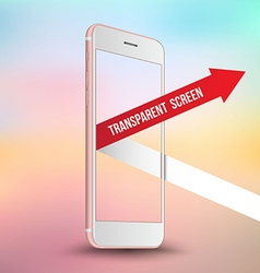 Pink smartphone mockups like iPhone vector