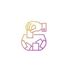 Raffle gradient linear icon vector