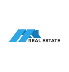 real estate house graphic icon design template vector image