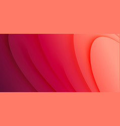 Red colours gradient curves and waves abstract vector