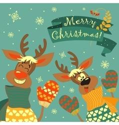 Reindeers say hello vector