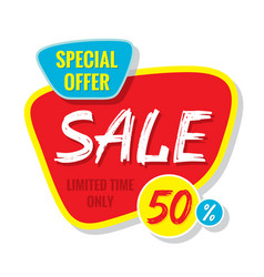 sale banner template special offer vector image