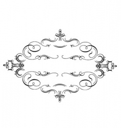 scrollwork frame vector image