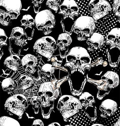Seamless skull background vector