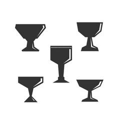 Set communion bowls vector