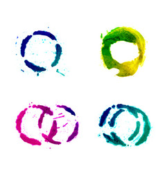 set of multicolored round spots vector image