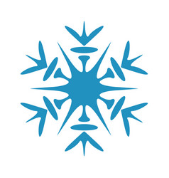 Simple isolated snowflake vector