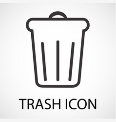 simple trash icon vector image