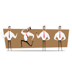 small set of businessman design on process vector image
