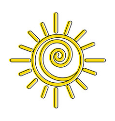 summer sun drawing icon vector image