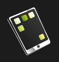 Tablet or touchscreen mobile phone vector