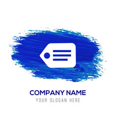 Tag icon - blue watercolor background vector