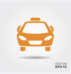 taxi car icon vector image