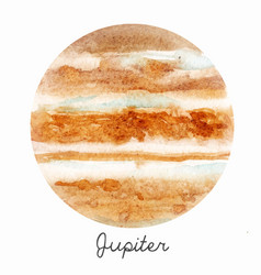Watercolor jupiter planet vector