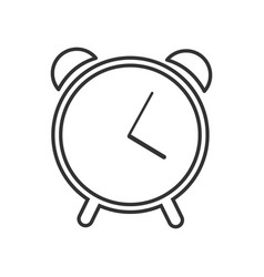 web line icon alarm clock vector image