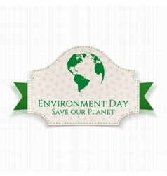 World Environment Day awareness Badge and Ribbon vector