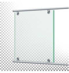 advertising glass board banner mockup vector image