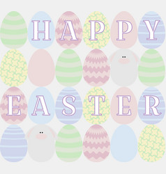 Card with colored eggs vector