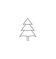 christmas tree icon forest or nature sign vector image vector image