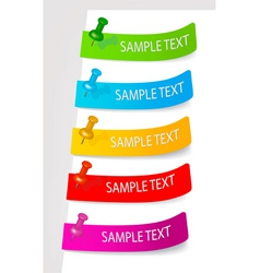 set of color tags vector image