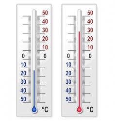 set of thermometers vector image vector image