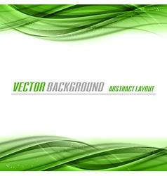Abstract green white center vector