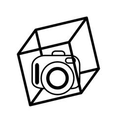 Vr camera digital video 3d function outline vector