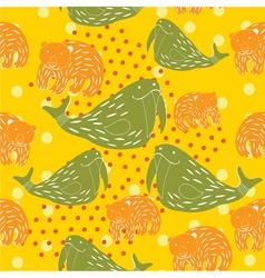 animal kid pattern vector image