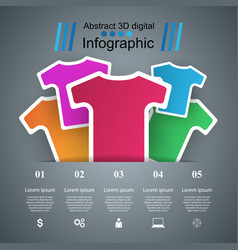 clothing business infographics t-shirts t-shirts vector image vector image