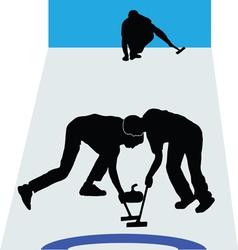 Curling sport vector image