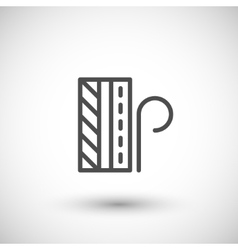 Insulation scheme line icon vector image vector image