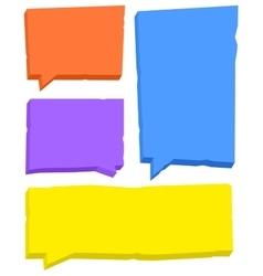 Speech bubbles set vector image vector image