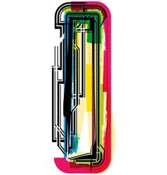 Colorful Grunge font LETTER l vector image vector image