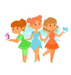fairies princess fairy girl character cute vector image