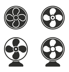 fan icons set vector image vector image