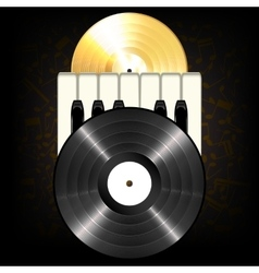 Gold and black classic vinyl vector image