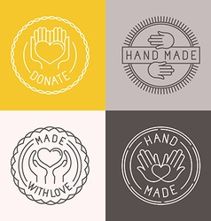 hand made labels and badges vector image vector image