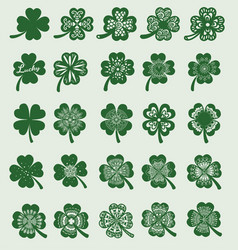 25 clover leaf vector