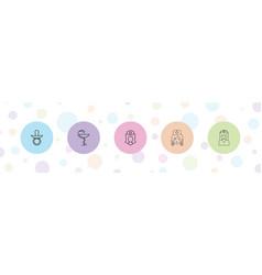 5 nursing icons vector