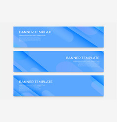 Abstract horizontal banners with gradient design vector