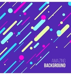 Abstract randomly lined colorful background vector
