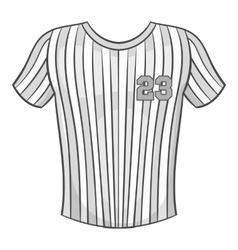 Baseball t-shirt icon black monochrome style vector image