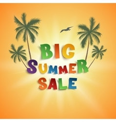 Big summer sale poster template vector image